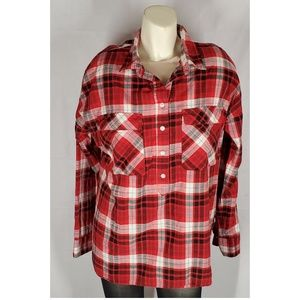 Old Navy Plaid Shirt Red